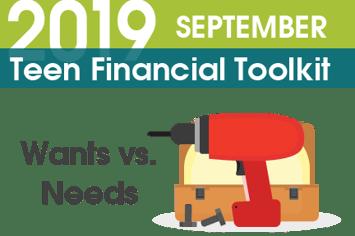 Teen Financial Toolkit – Wants vs. Needs